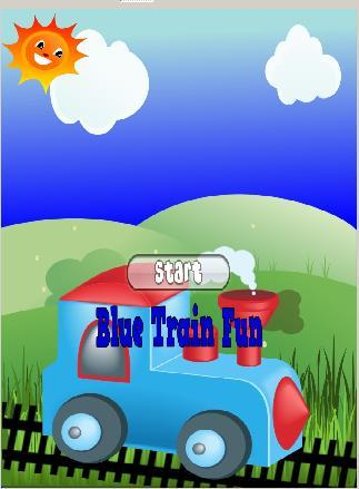 Blue Train Game For Kids