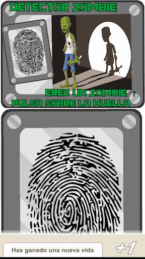 detector huella zombi broma