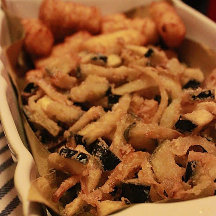 Fried Onions and Eggplants Recipe
