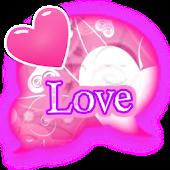 GO SMS THEME|LovelyHeart