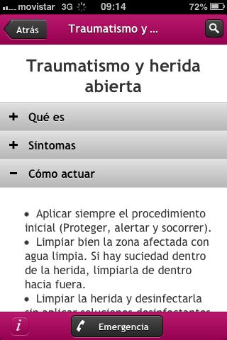 Primeros Auxilios- screenshot