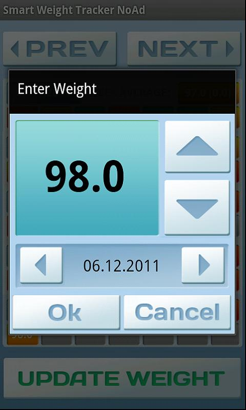 Smart Weight Tracker Ad Free - screenshot