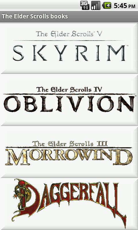 The Elder Scrolls Books - screenshot