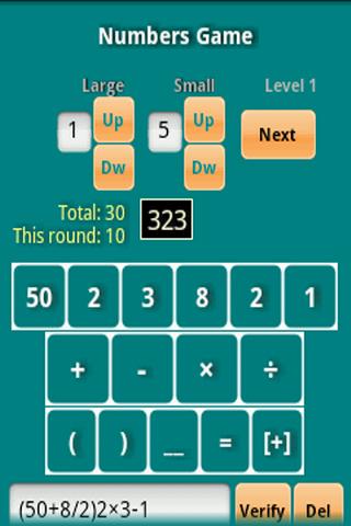 The Numerics game