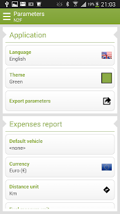N2F Expense report and mileage - screenshot thumbnail