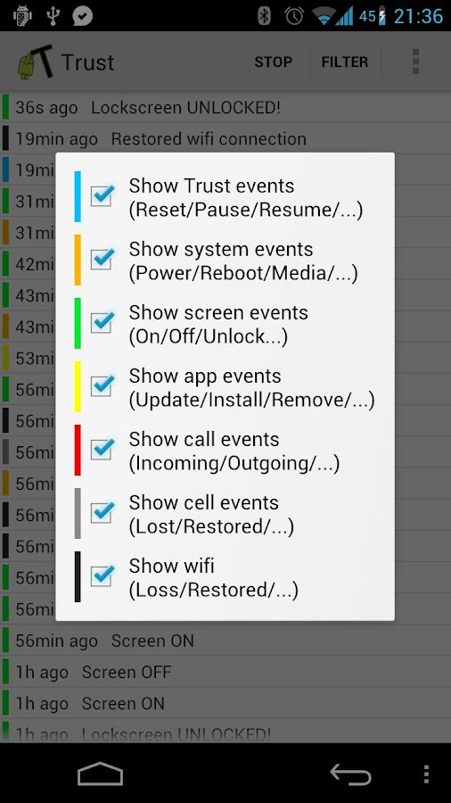Trust - Event Logger - screenshot