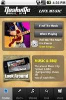 Screenshot of Nashville Live Music Guide