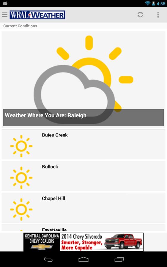 WRAL Weather - screenshot