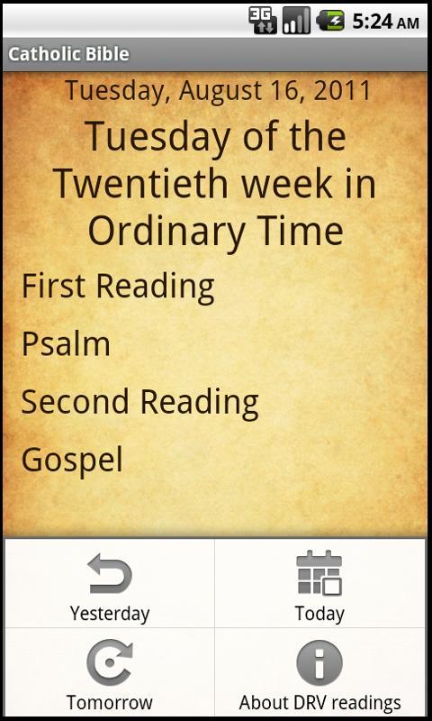 Catholic Bible- screenshot