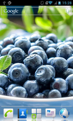 Blueberries HD Live Wallpaper
