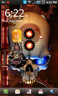 Steampunk Skull Live Wallpaper - screenshot thumbnail
