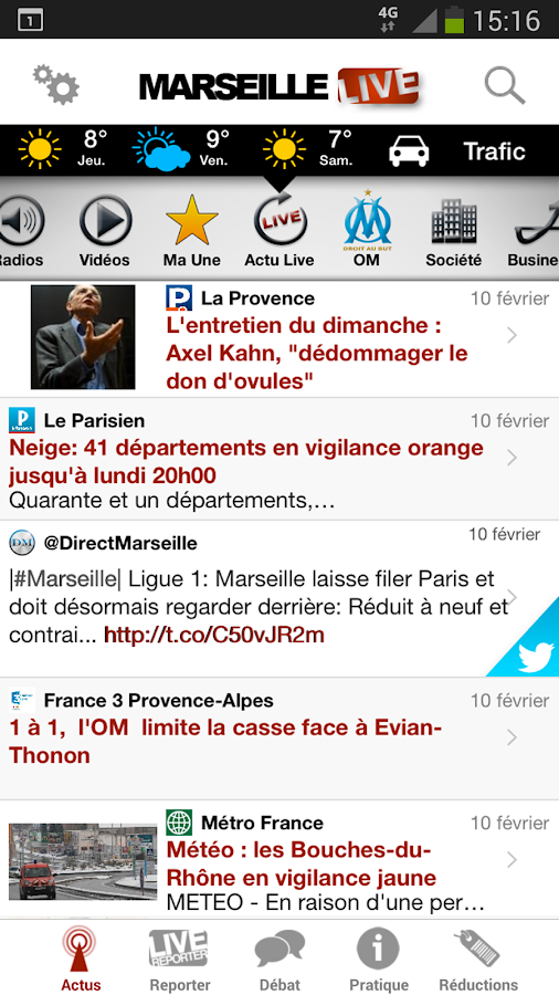 Marseille Live - screenshot