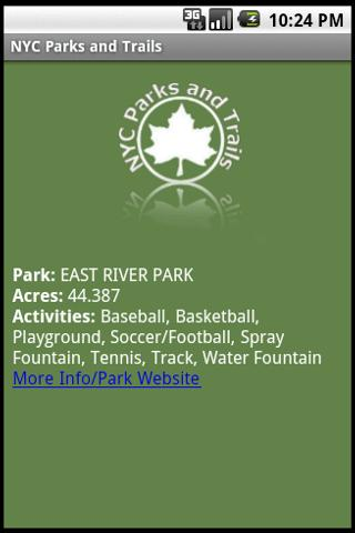 NYC Parks and Trails - screenshot