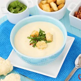 10 Minute Creamy Cauliflower Soup.