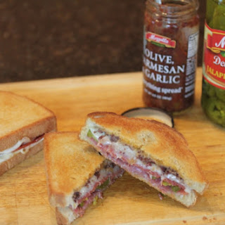 Double Meat and Cheese Olive Sandwich