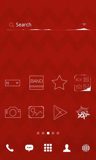 Red Square line dodol theme