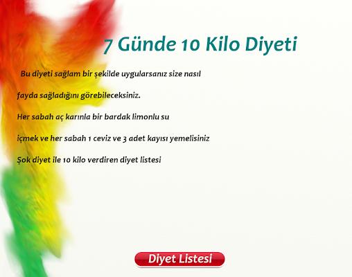 7 Günde 10 Kilo - screenshot