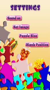 Fast Food Sliding Puzzle Game - screenshot thumbnail