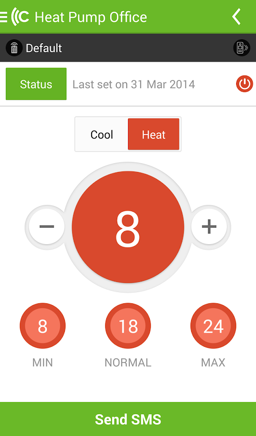 CTSmall heat pump controller- screenshot
