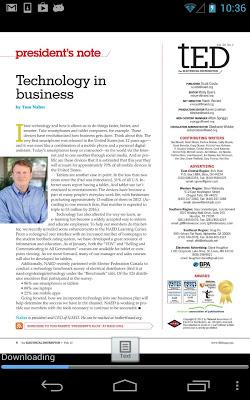 tED Magazine - screenshot