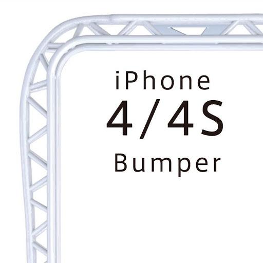 iPhone4/4S バンパー(プラスチック)ホワイト 『truss』