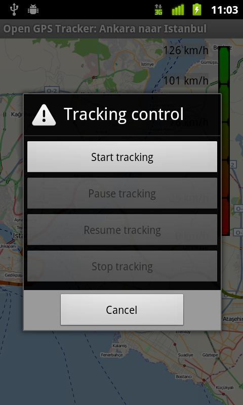 Open GPS Tracker - screenshot