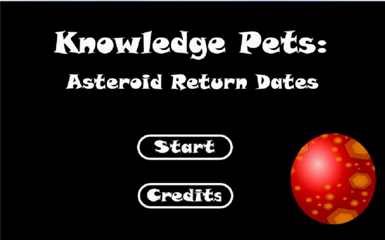 Knowledge Pets: Asteriod- screenshot
