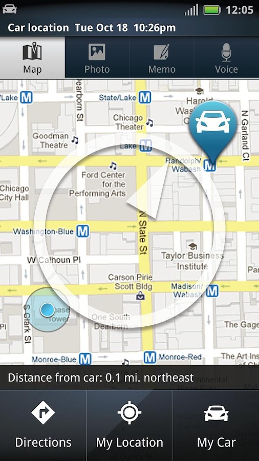 Motorola Car Finder - screenshot