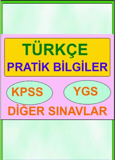 Türkçe Özet KPSS YGS LYS