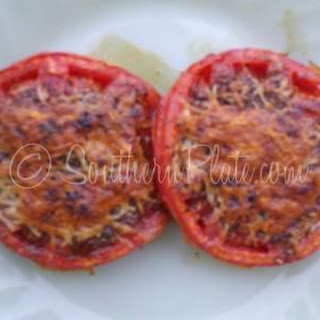 Broiled Tomatoes with Parmesan.