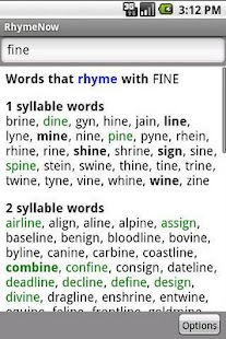 RhymeNow Rhyming Dictionary- screenshot thumbnail
