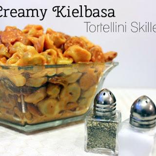 Creamy Kielbasa Tortellini Skillet