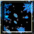 3D Animated Snowflakes LWP icon