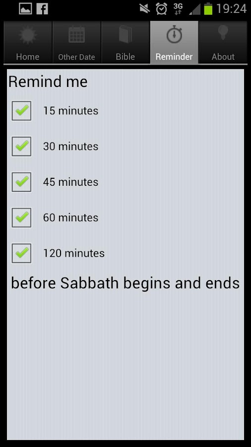 The Sabbath App - screenshot