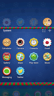 Gingerbread GO Launcher Theme - screenshot thumbnail