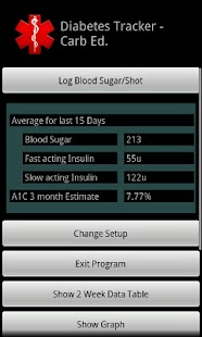 Diabetes Tracker Carb Ed.
