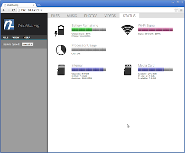 WebSharingLite (File Manager) Screenshot 6