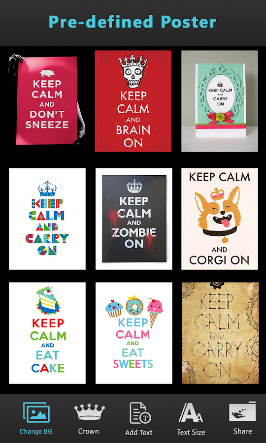 hd keep calm poster maker android apps on google play. Black Bedroom Furniture Sets. Home Design Ideas