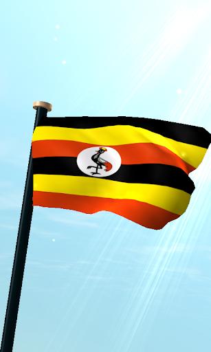乌干达旗3D免费动态壁纸
