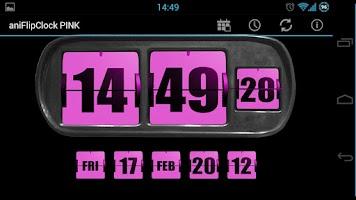 Screenshot of 3D Animated Flip Clock PINK