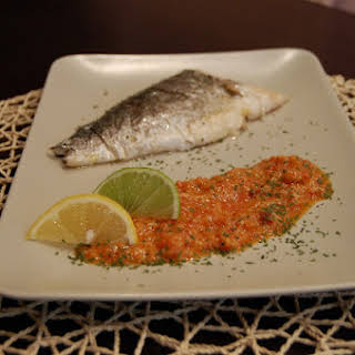 Gilt Head Bream with Romesco Sauce.