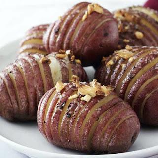 Red Hasselback Potatoes.