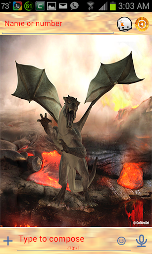 玩免費個人化APP 下載3D Dragon Go SMS Pro Theme app不用錢 硬是要APP