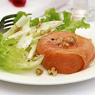 Smoked Salmon Parcels With Fennel & Walnut Salad