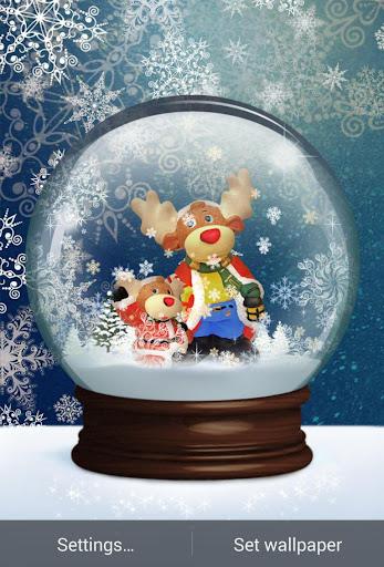 Snow Globe Live Wallpaper
