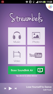 Streambels AirPlay/DLNA Player - screenshot thumbnail