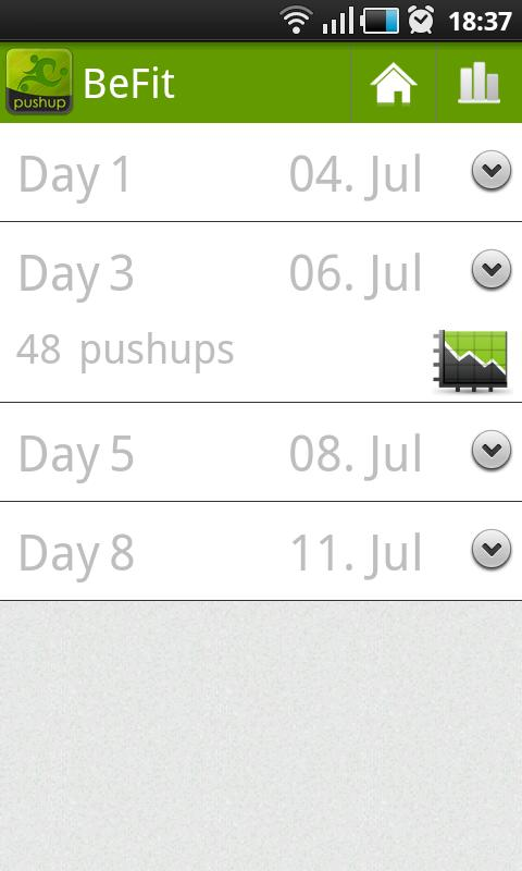 BeFit: pushups Free - screenshot