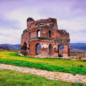 the red church by Naiden Bochev - Buildings & Architecture Public & Historical ( perushtiza, ancient, nature, red church, bulgaria )