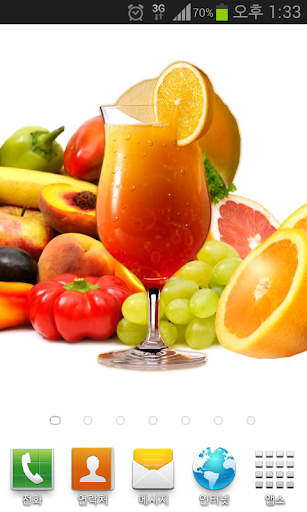 [TOSS] Fruit Drink Theme LWP
