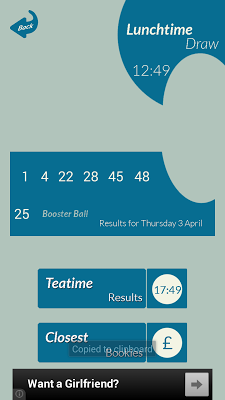 49's Lotto Results - screenshot